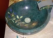 Edelstein und Intarsia Waschbecken