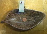 Blatt Waschbecken Marmor Rain Forest Brown No.10