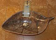 Blatt Waschbecken Marmor Rain Forest Brown No.17