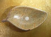 Blatt Waschbecken Marmor Rain Forest Gold No.8