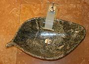 Blatt Waschbecken Marmor Rain Forest Grün No.14
