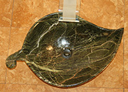 Blatt Waschbecken Marmor Rain Forest K 4