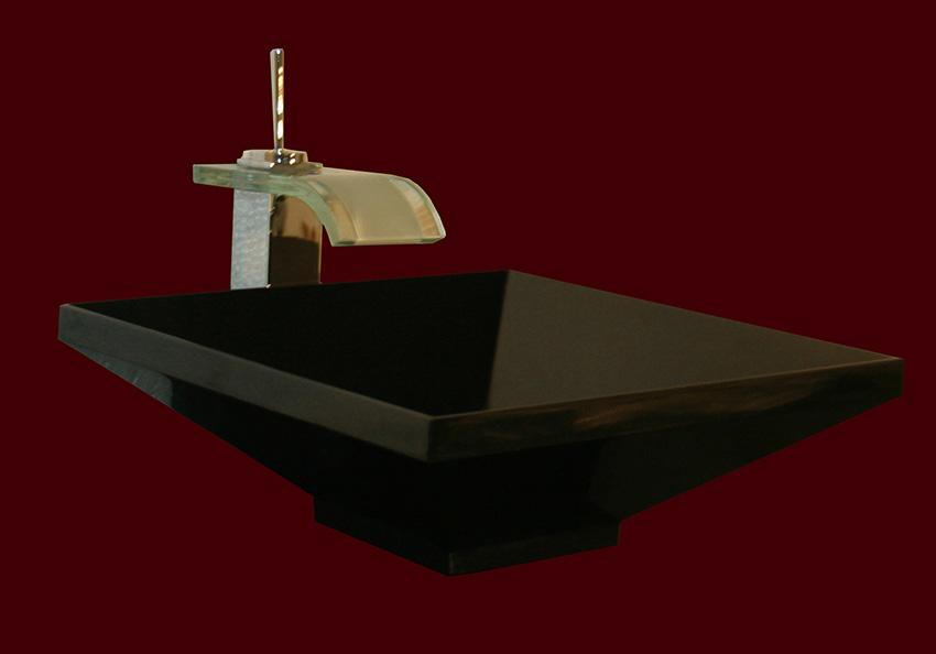 Schwarzes römisches Nero Assoluto Granit Waschbecken