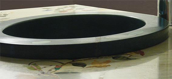 Halbedelstein Pietra Dura Einlege Marmor Einbaubecken
