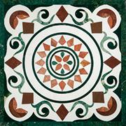 Runde Marmor Intarsienplatte Art No.10