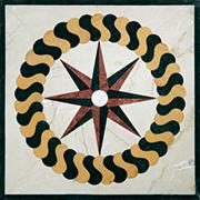 Runde Marmor Intarsienplatte Art No.16