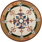 Runde Marmor Intarsienplatte Art No.2