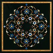 Runde Marmor Intarsienplatte Art No.5