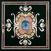 Runde Marmor Intarsienplatte Art No.6
