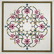 Runde Marmor Intarsien Platte Art No.8