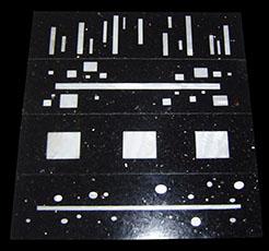 Pietra Dura Intarsien Granit-Perlmutt Bordüren