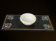 Edelstein Intarsien Marmor Waschtisch und Waschschale