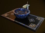 Edelstein Intarsien Marmor Waschtisch und Lapislazuli Waschbecken